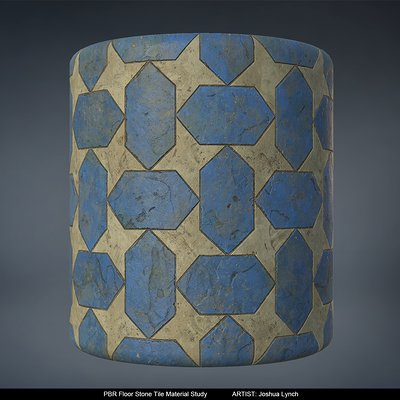 Joshua lynch floor stone tile cylinder layout comp josh lynch