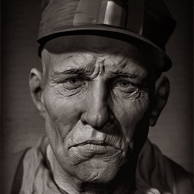 Rudy massar portrait of a miner