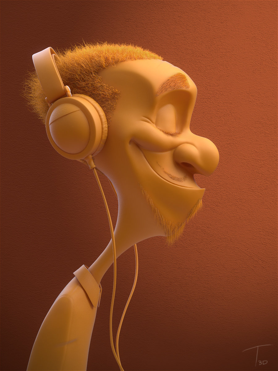 Kevin beckers headphone dude