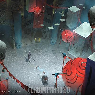 Zeen chin dream paradiso environment concept art2