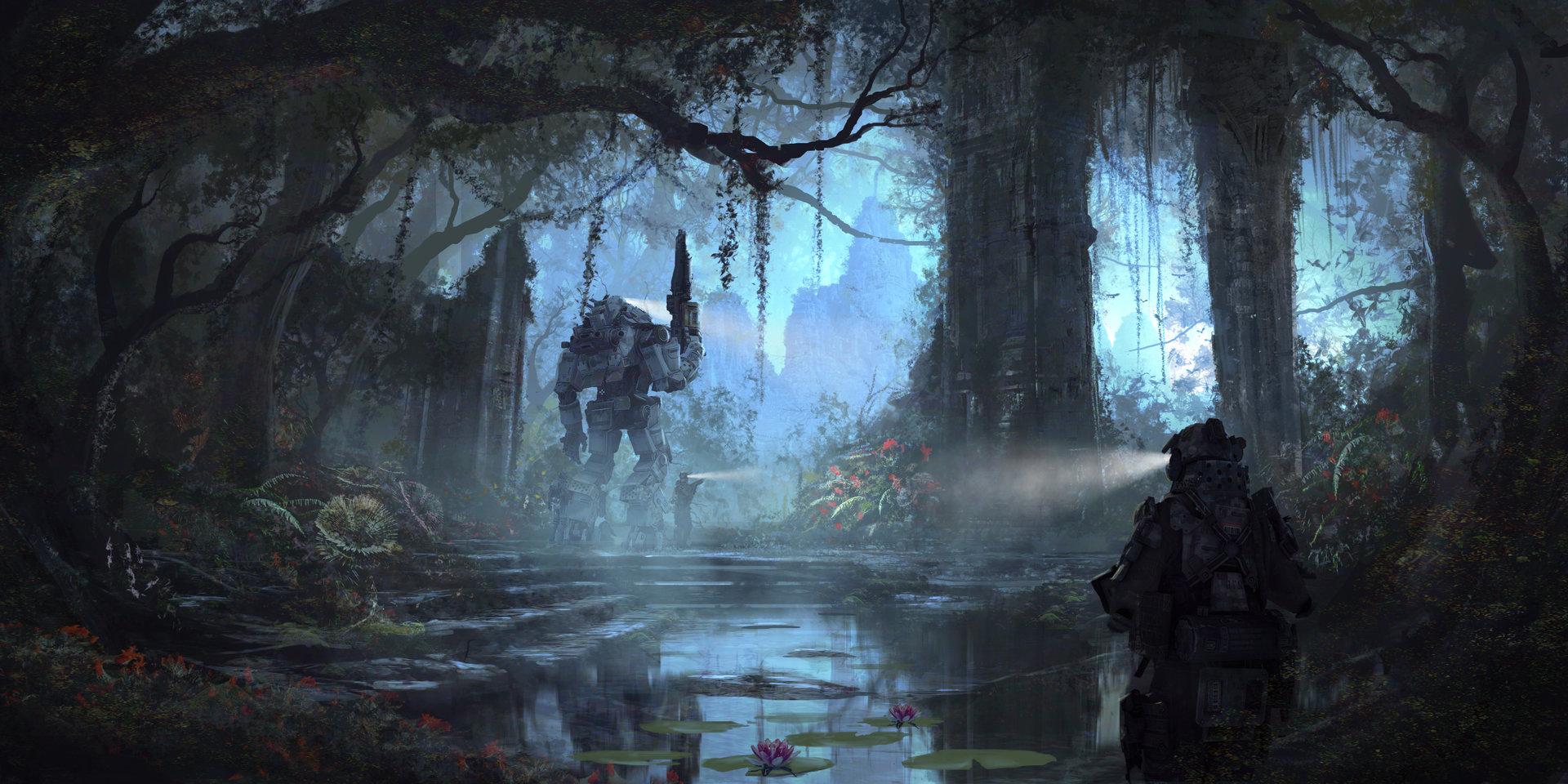 Tu bui swamp night temple