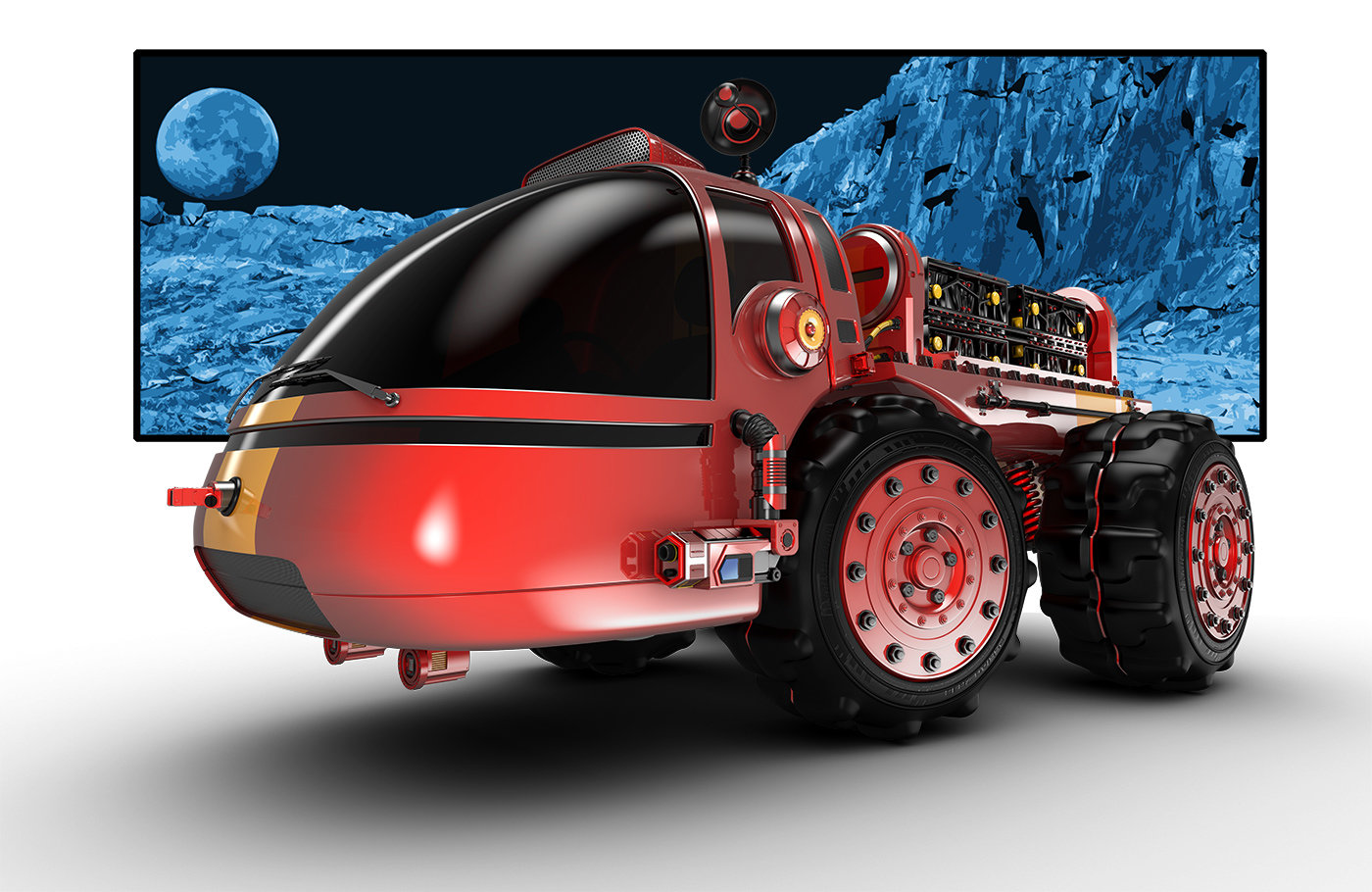 Jomar machado moon patrol com fundo