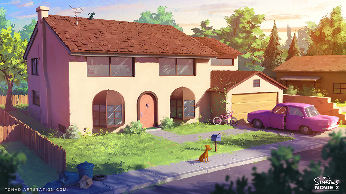 The Simpsons Movie 2 environment design