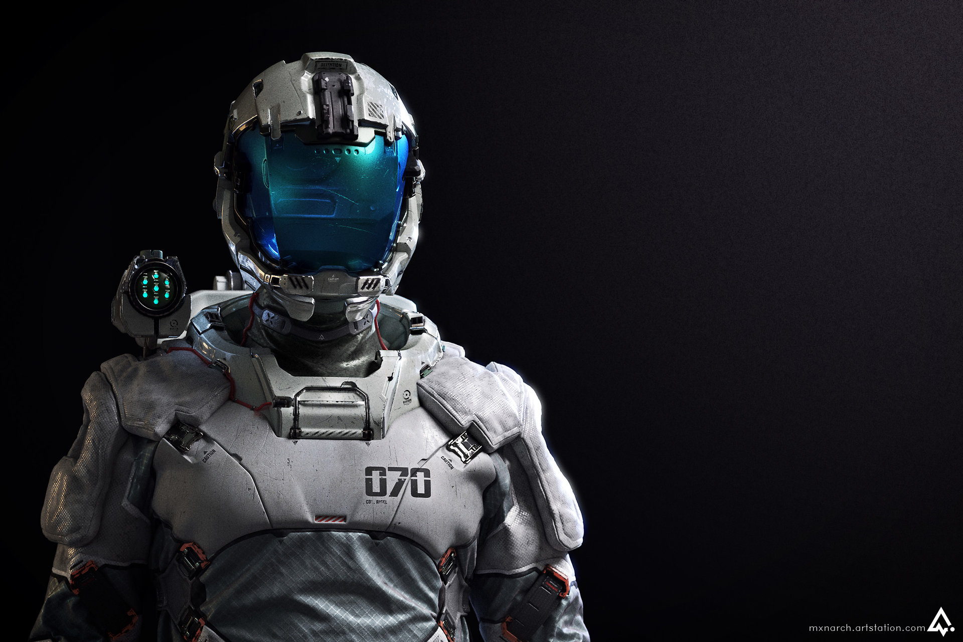 Col. Rigel (Lightweight EVA suit) by Chris Chui ...