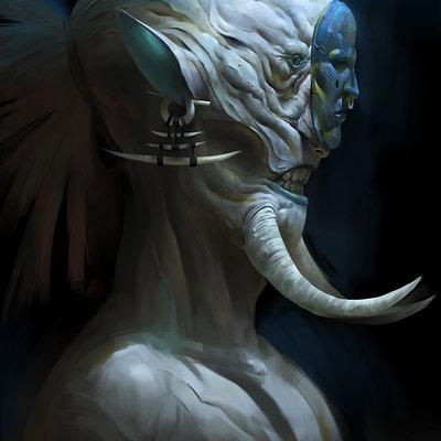 Zeen chin dream paradiso concept art warrior