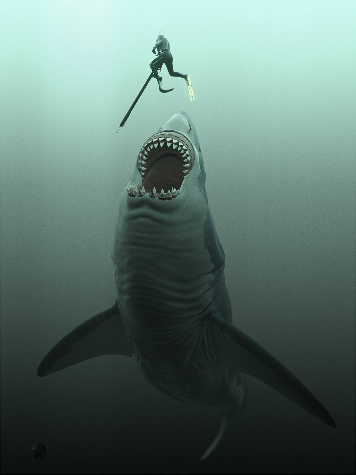 Thalassophobia Megalodon By Thierry Berengier