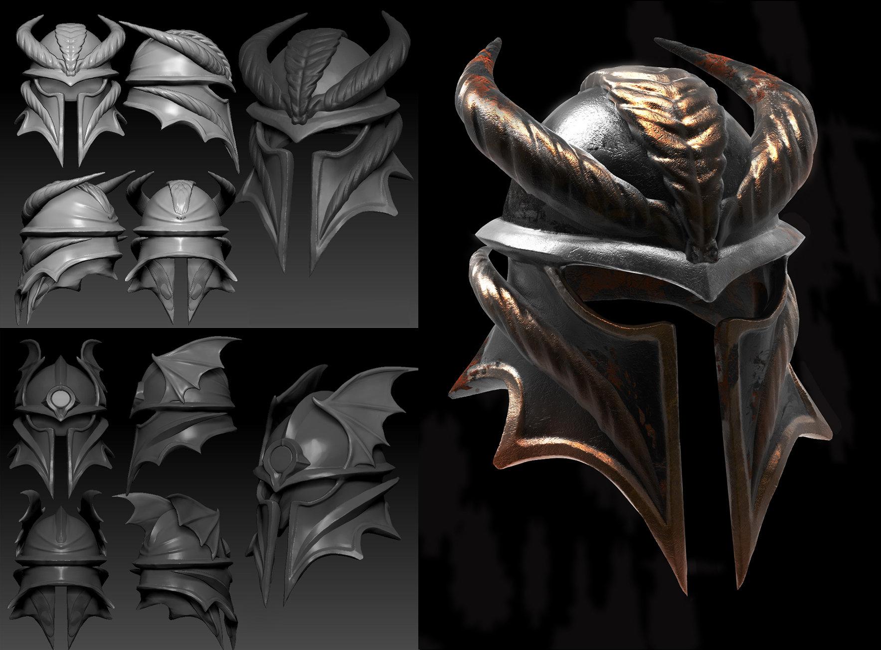 Cool Knight Helmets