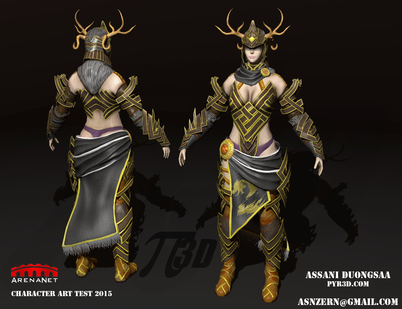 the Stag - ArenaNet Art Test 2015