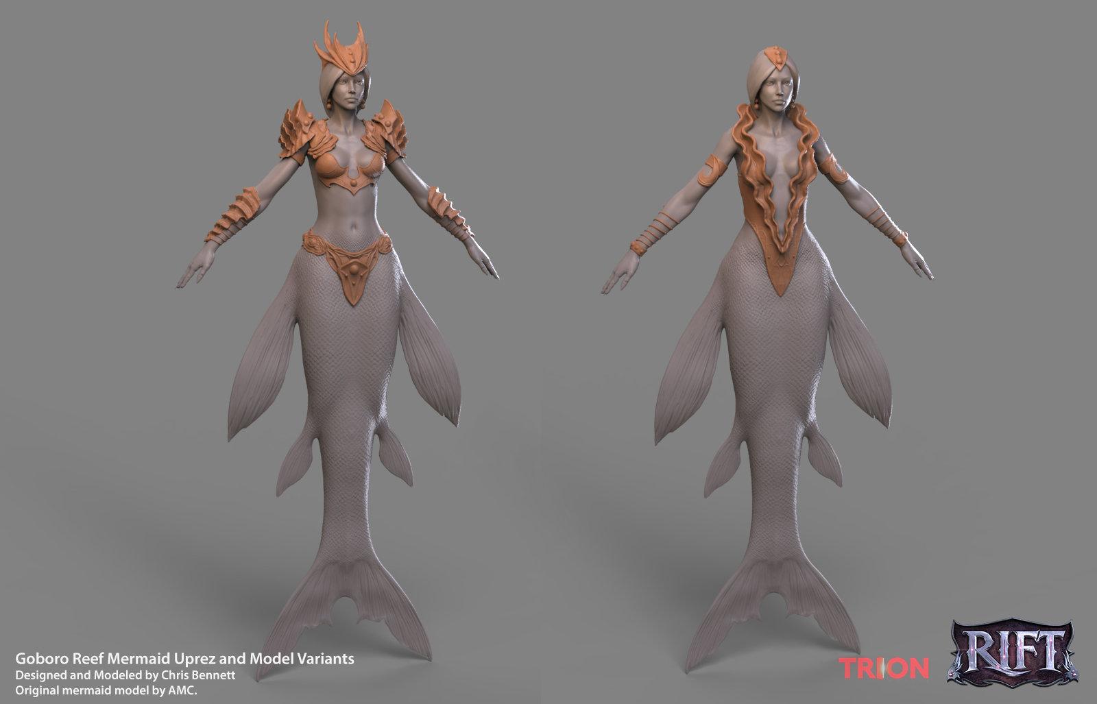 Chris bennett chrisbennett mermaid sculpt