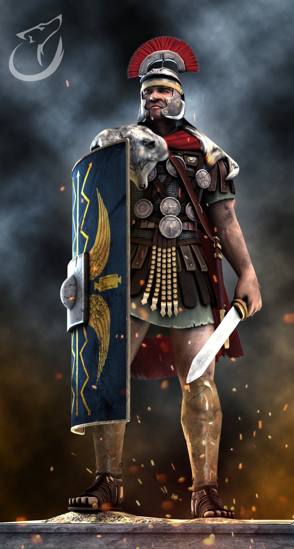Andrew constantine centurion 3d lowpoly model by binusianwolf d8fgdxl