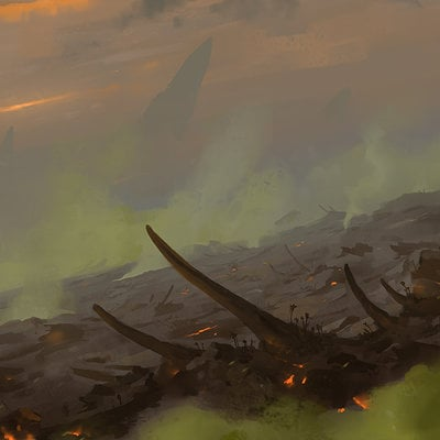 Veli nystrom environment sketch dragonrock wastes