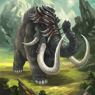 Alonzo emata mammoth by alonzoemataart d7arsbb