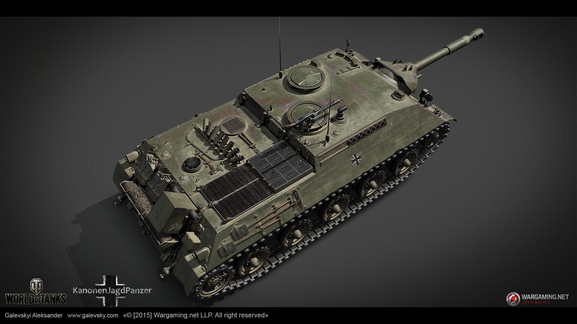 KanonenJagdPanzer. German Tank Destroyer (TIER VIII)