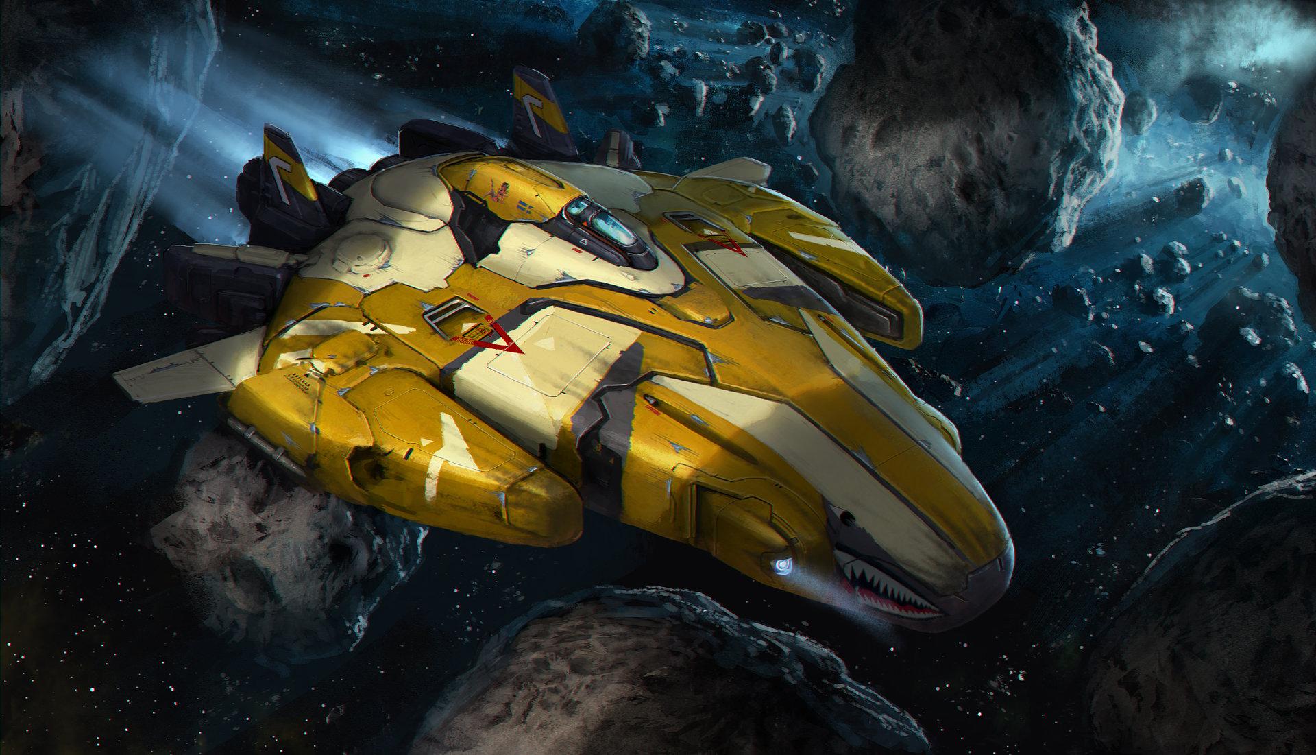 Spaceship - Yellow eagle