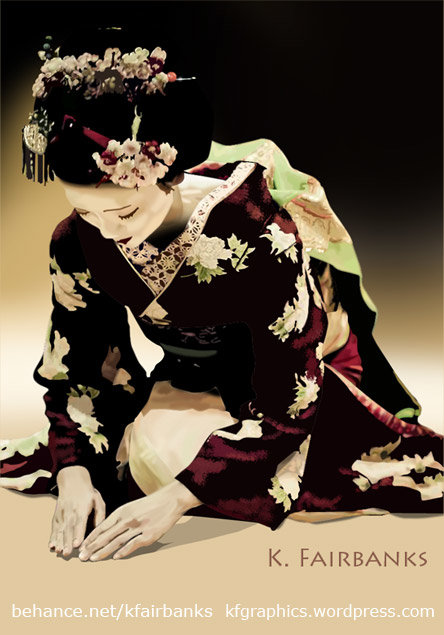 K fairbanks kneelinggeisha by k fairbanks