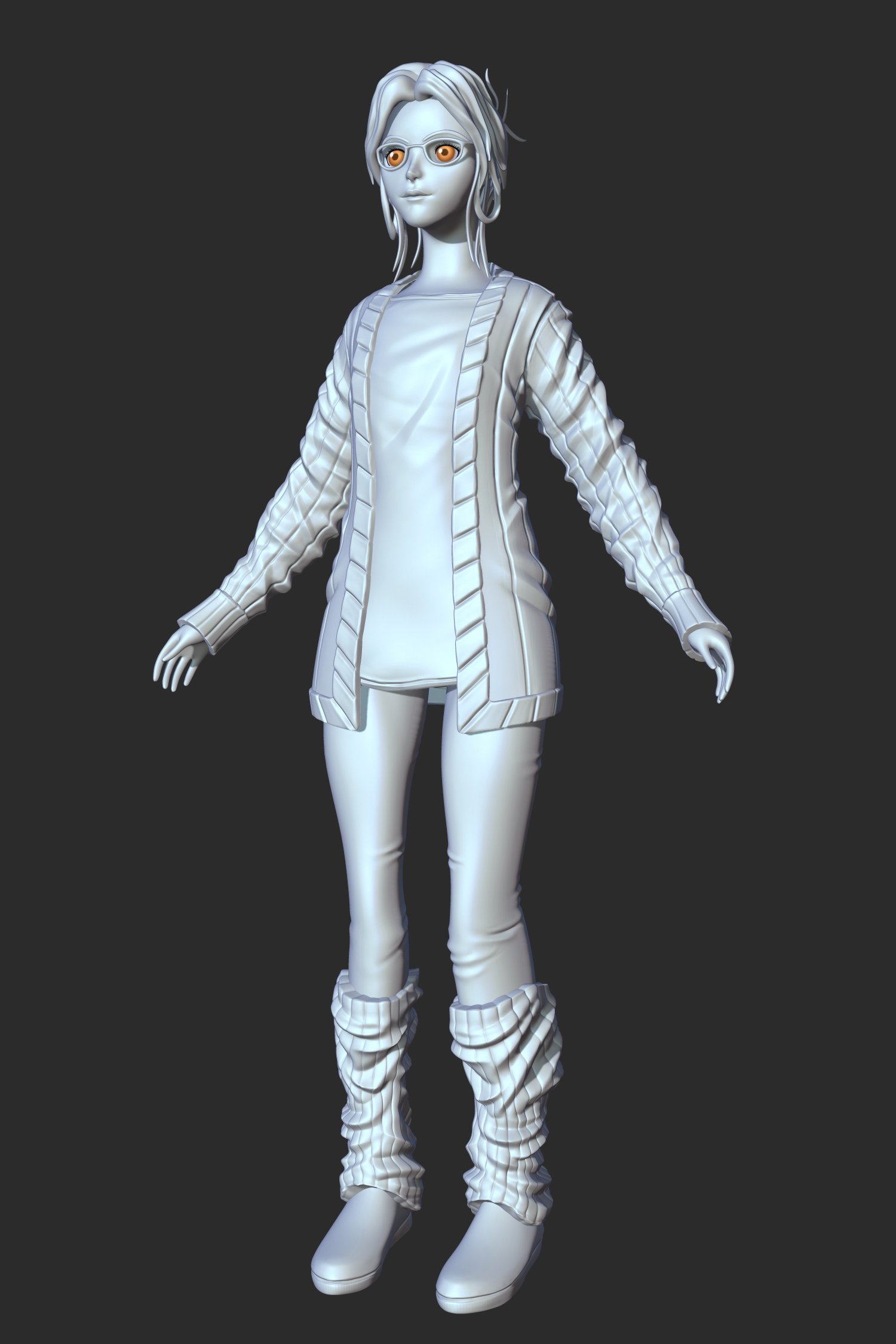 the Girl - Sculpt