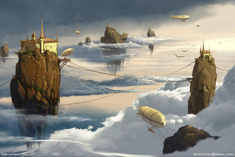 Sviatoslav gerasimchuk floating islands zeppelin