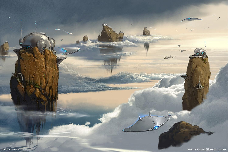 Sviatoslav gerasimchuk floating islands iron sky