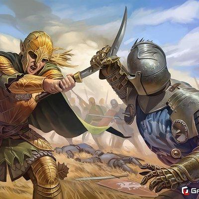 Ben hughes illustration elf knight 01