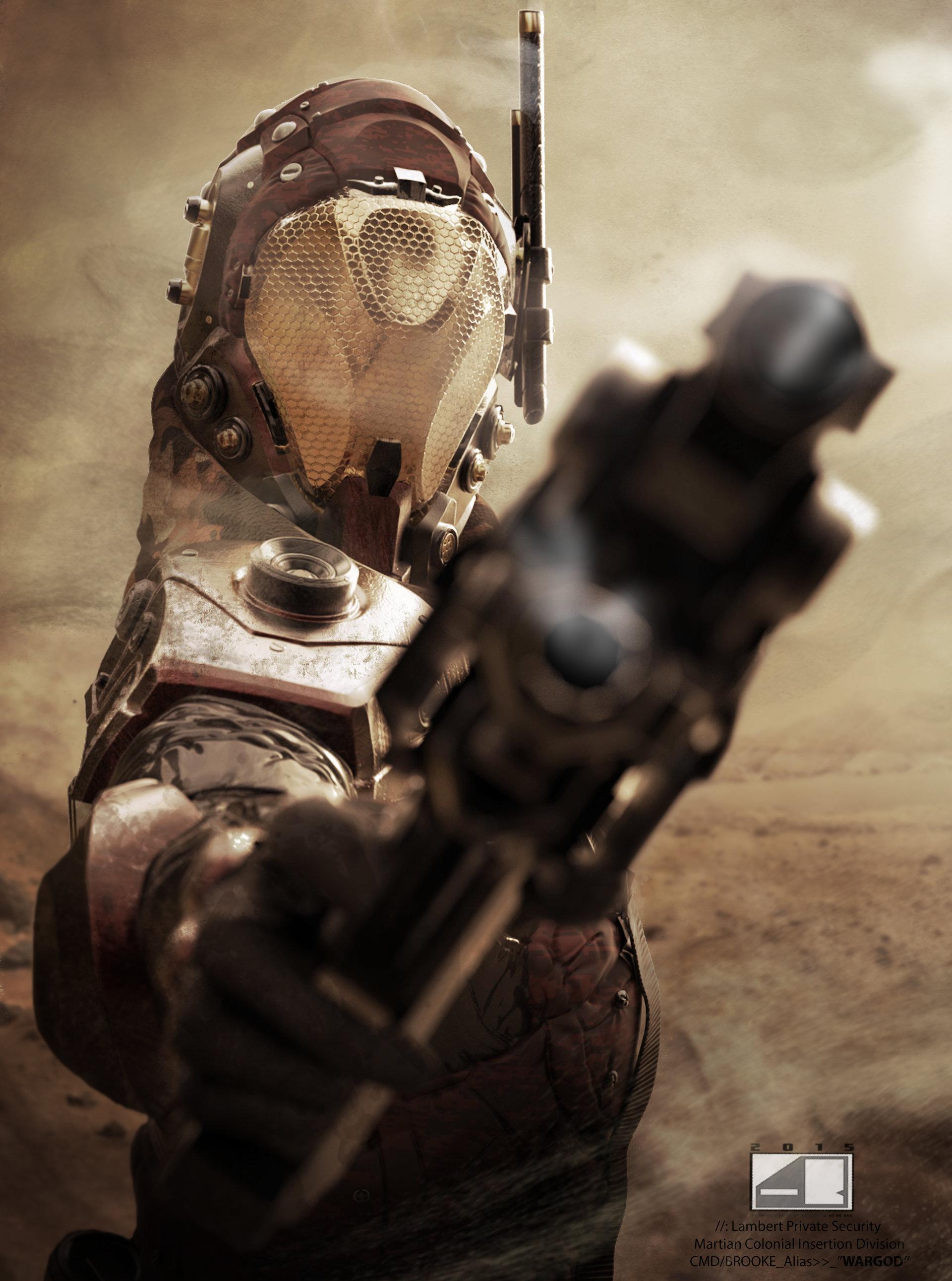 Martian CID Commander (Promo Art)