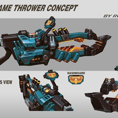 Rock d scifi flame thrower