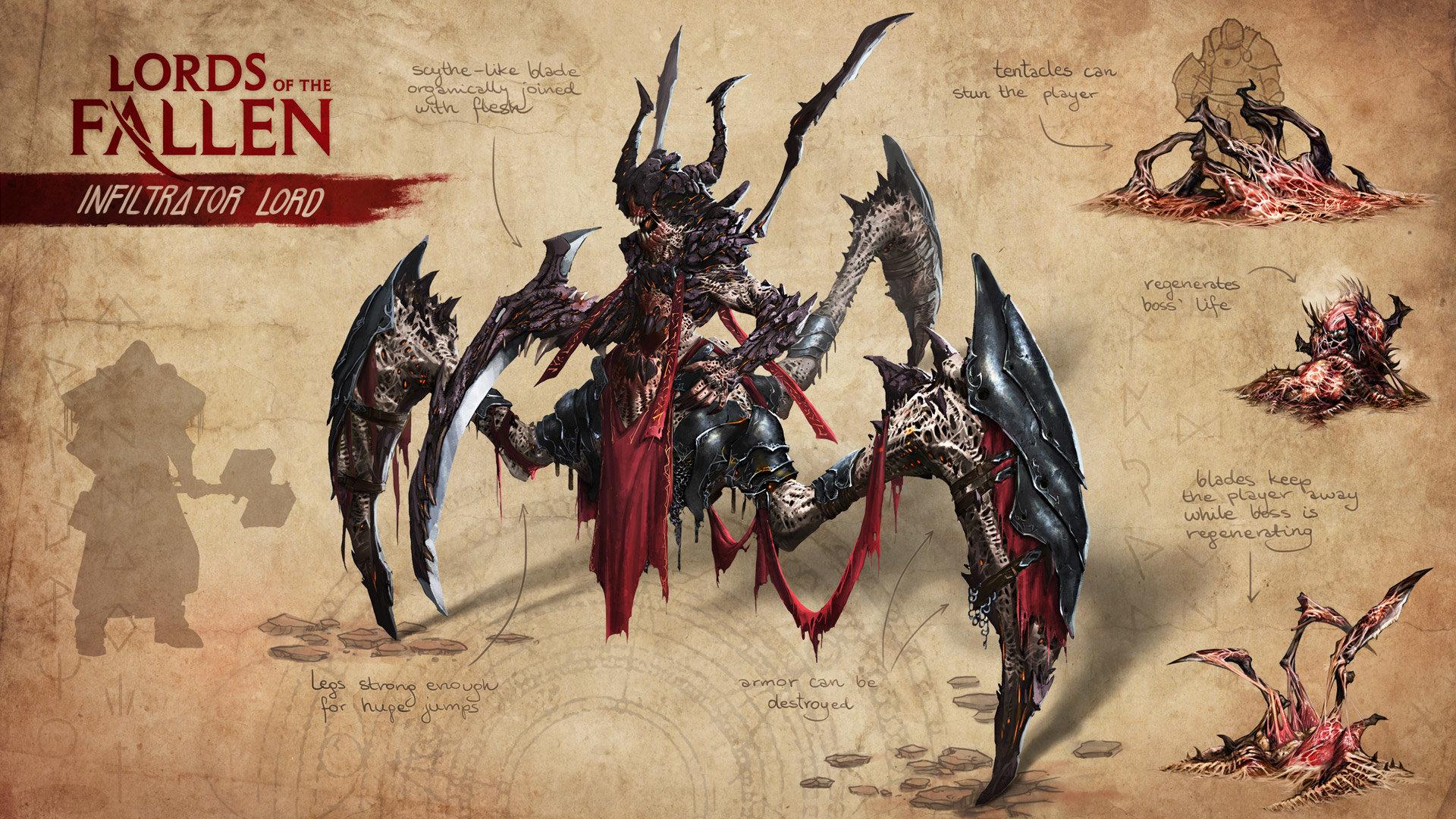 Opus artz lords of the fallen concept art infiltrator lord