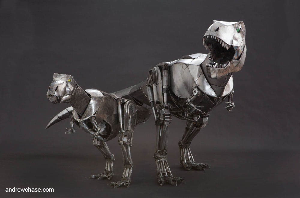 Andrew chase large and small t rex 1
