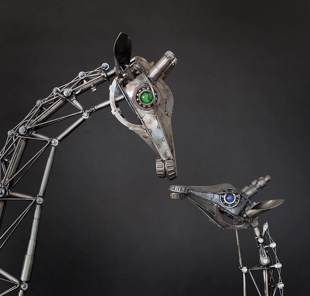 Andrew chase articulated metal giraffes mom 1