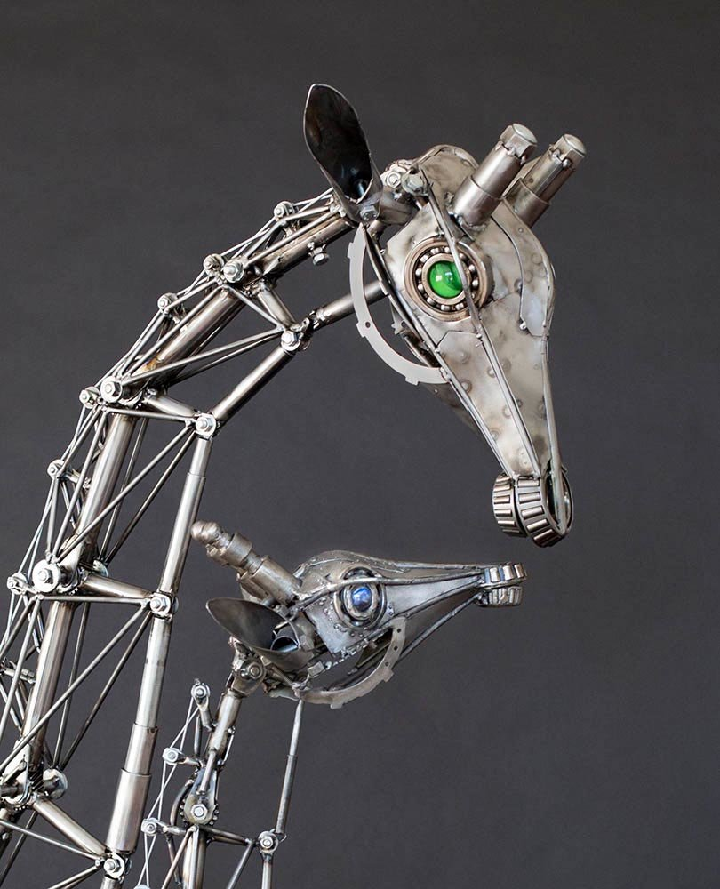 Andrew chase articulated metal giraffes mom 2