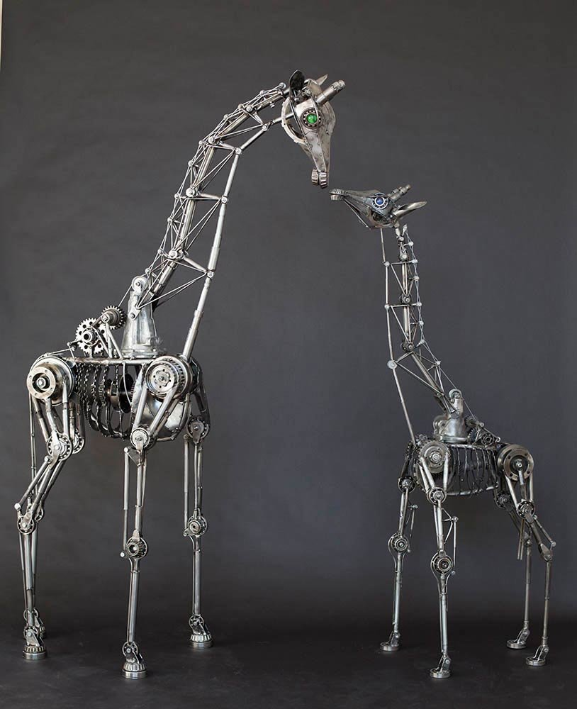 Andrew chase articulated metal giraffes mom 3