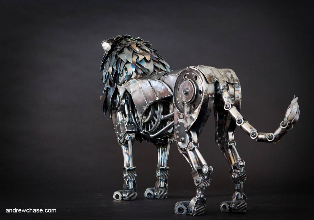 Andrew chase mechanical metal lion rear 2