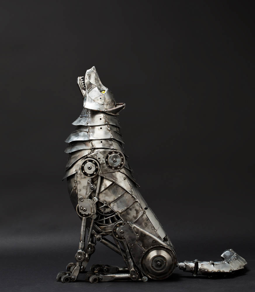 Andrew chase mechanical metal wolf howling