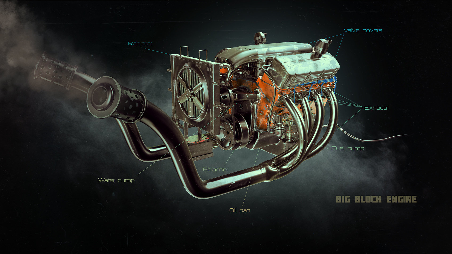 Alexandr novitskiy big block engine 01