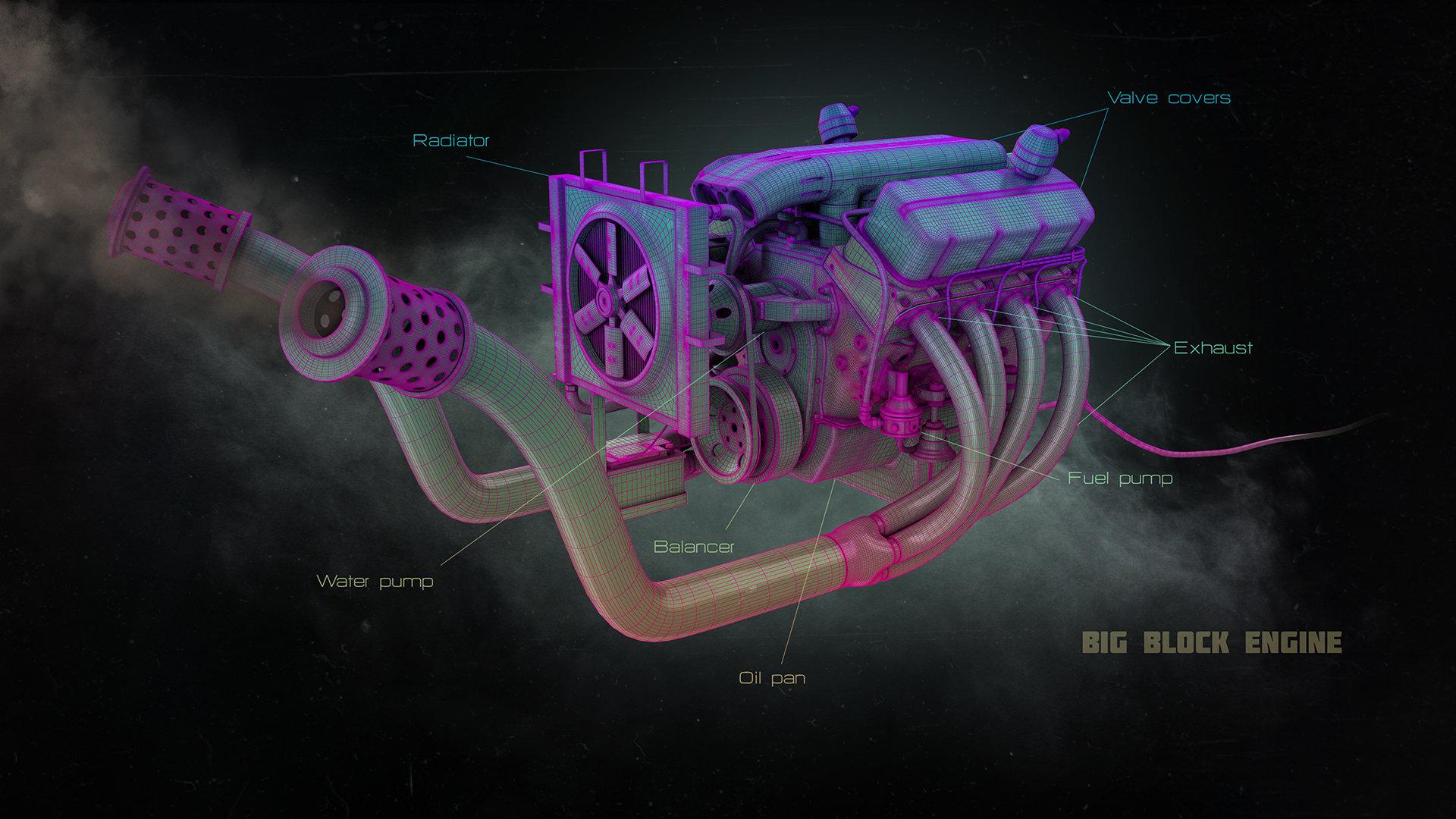 Alexandr novitskiy big block engine 01 mesh
