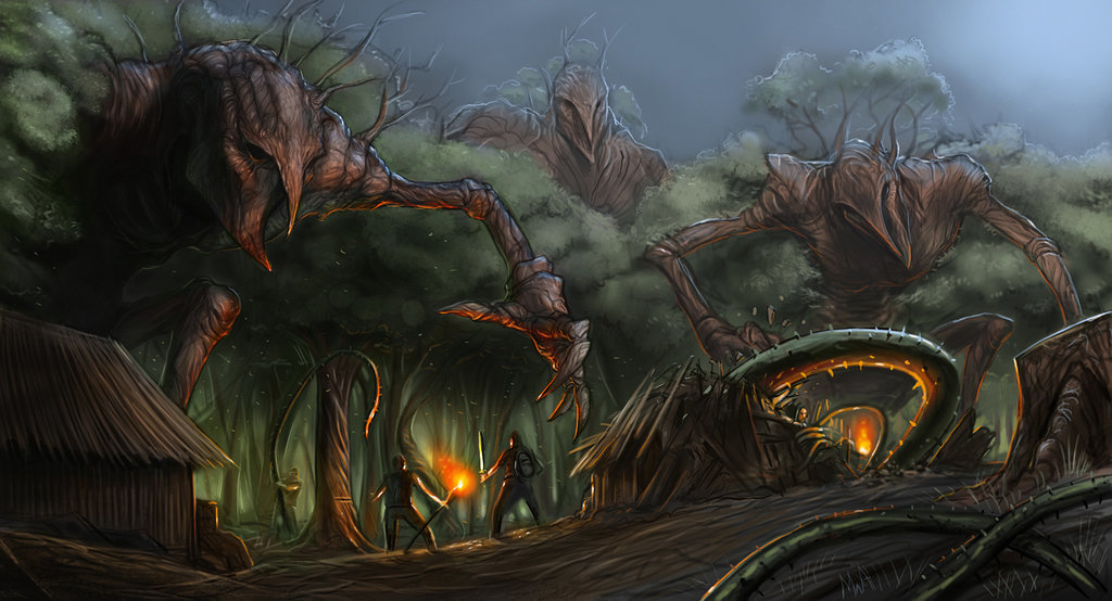 Michael antrim living forest by thechaoticknight