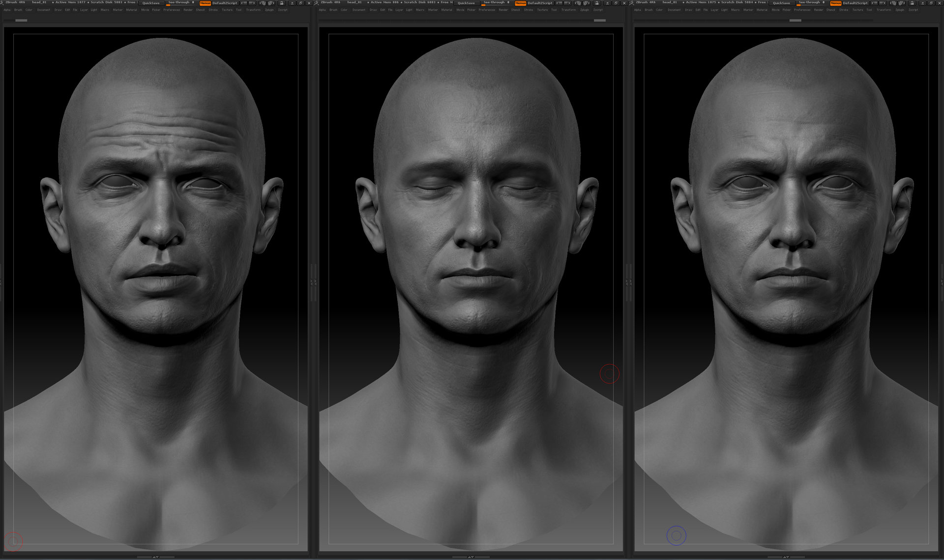 Ui joo moon head zbrush01