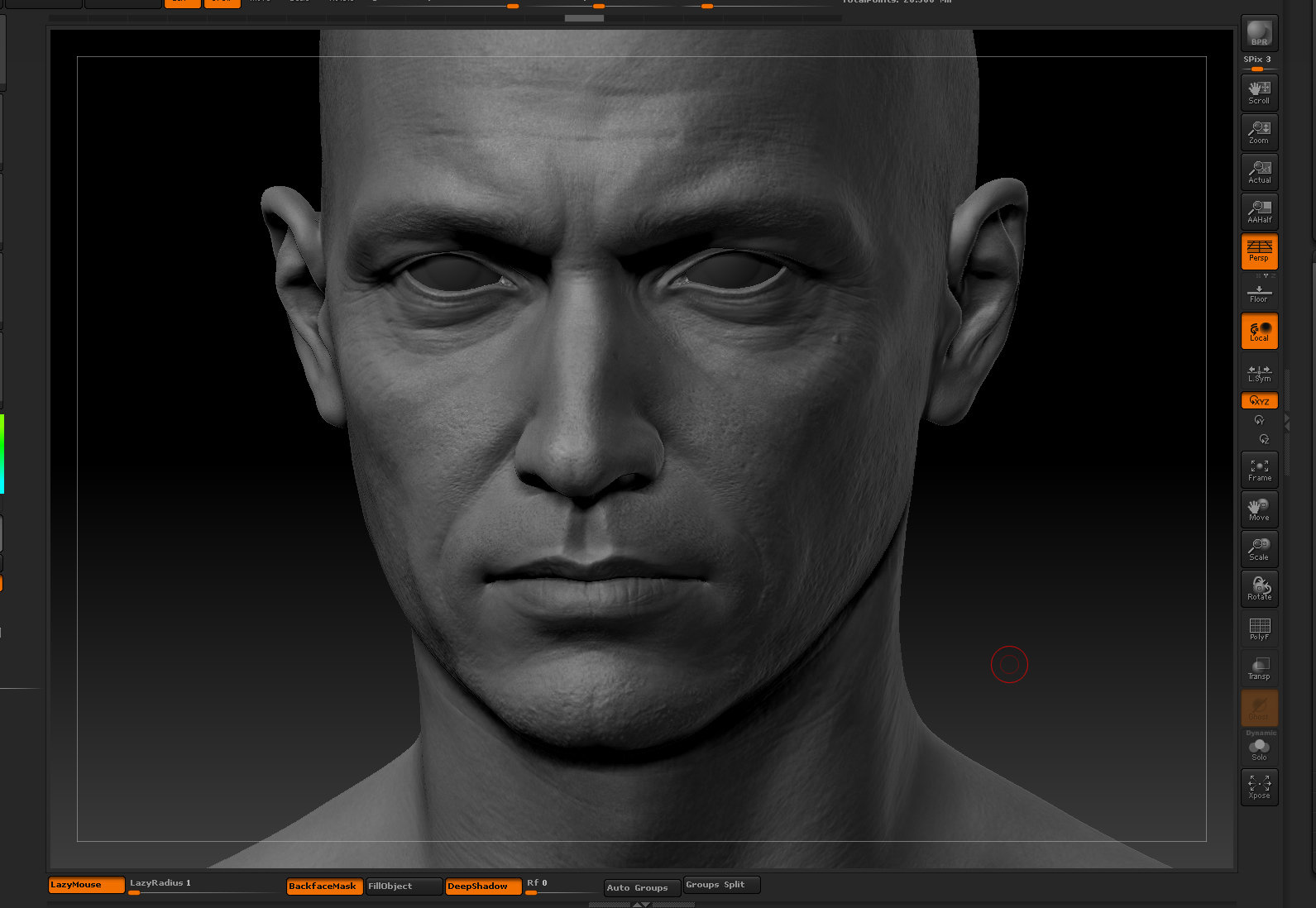 Ui joo moon head zbrush08