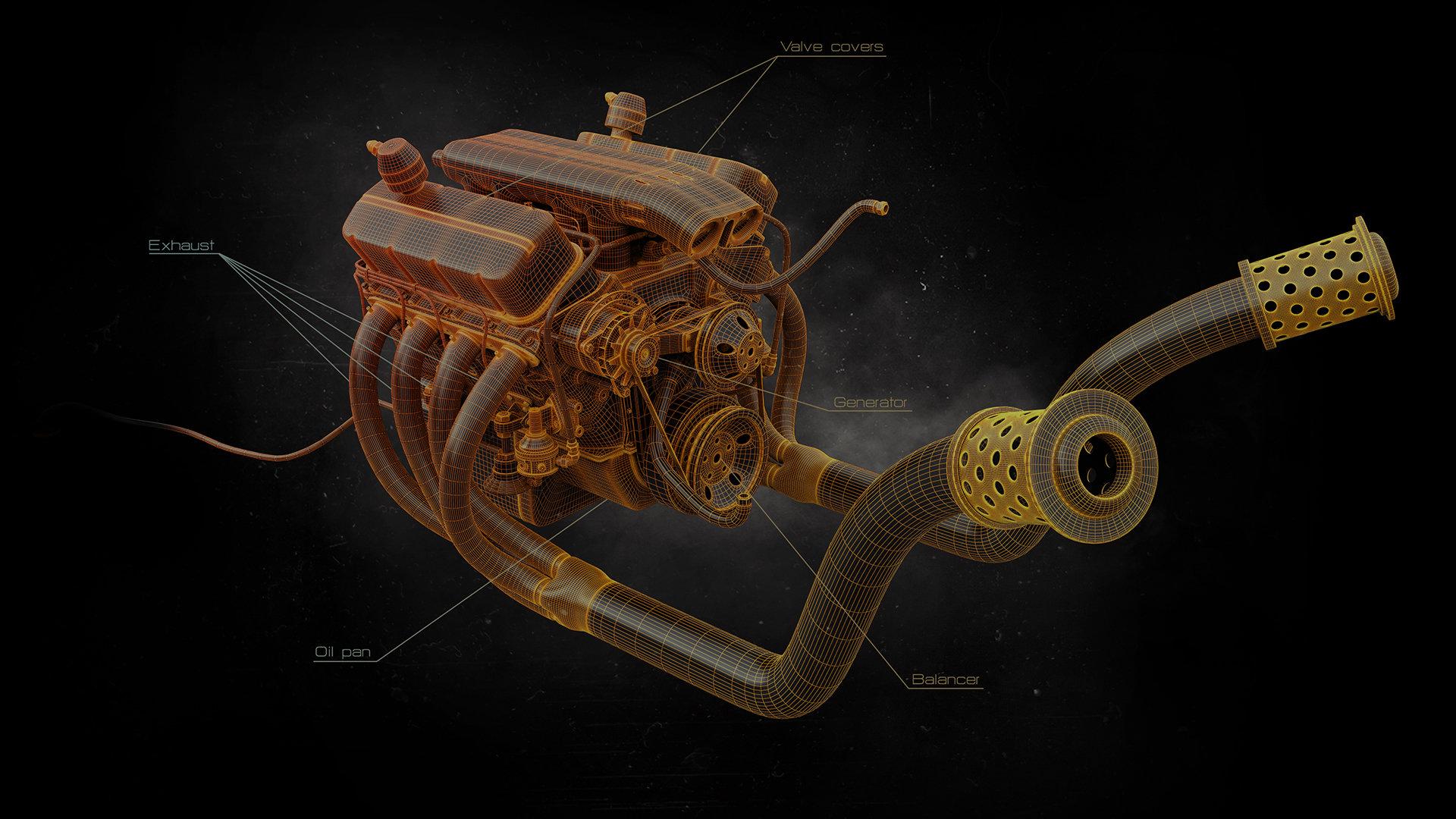 Alexandr novitskiy big block engine 04 mesh