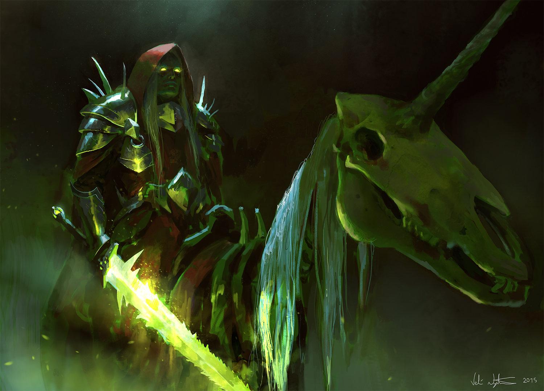 Veli nystrom skeleton unicorn rider