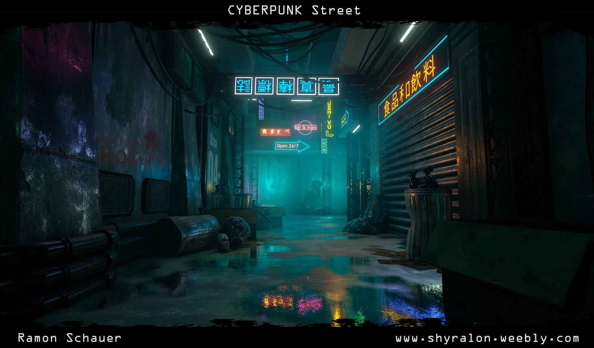 Online Building Plan Cyberpunk Street Unreal Engine 4 Polycount