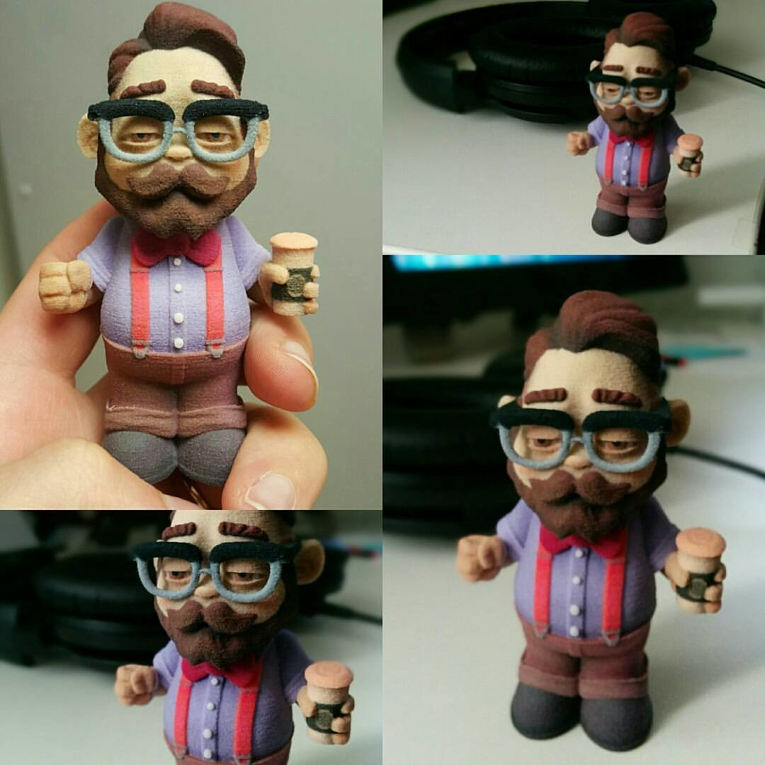 Lil'Hipster toy 3D Print