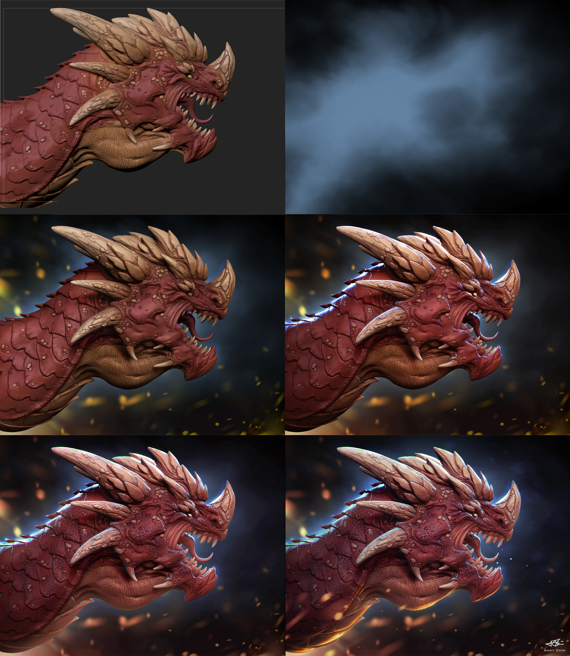 Andy chin dragon render step