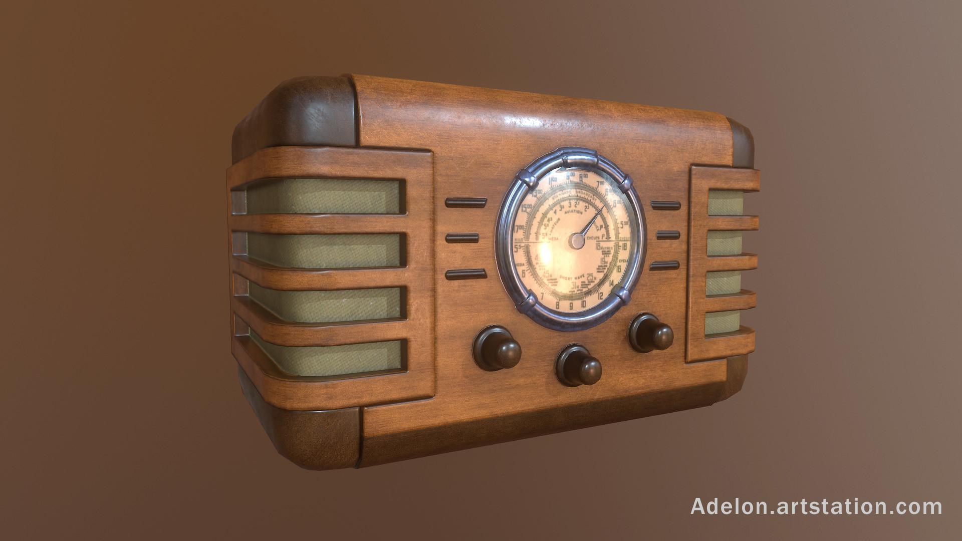 Vladyslav silchuk vintage radio by adelon