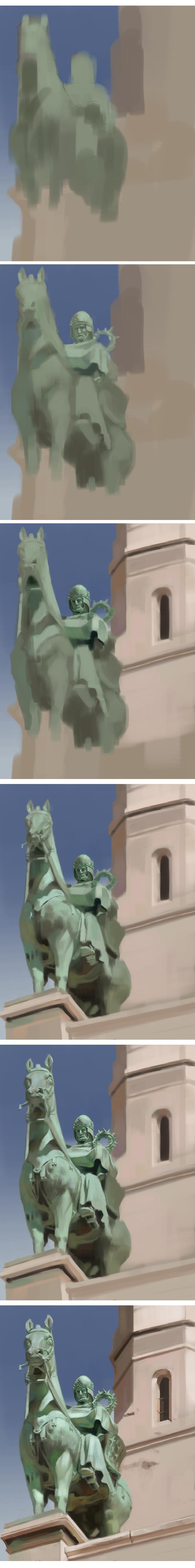 knight statue process
