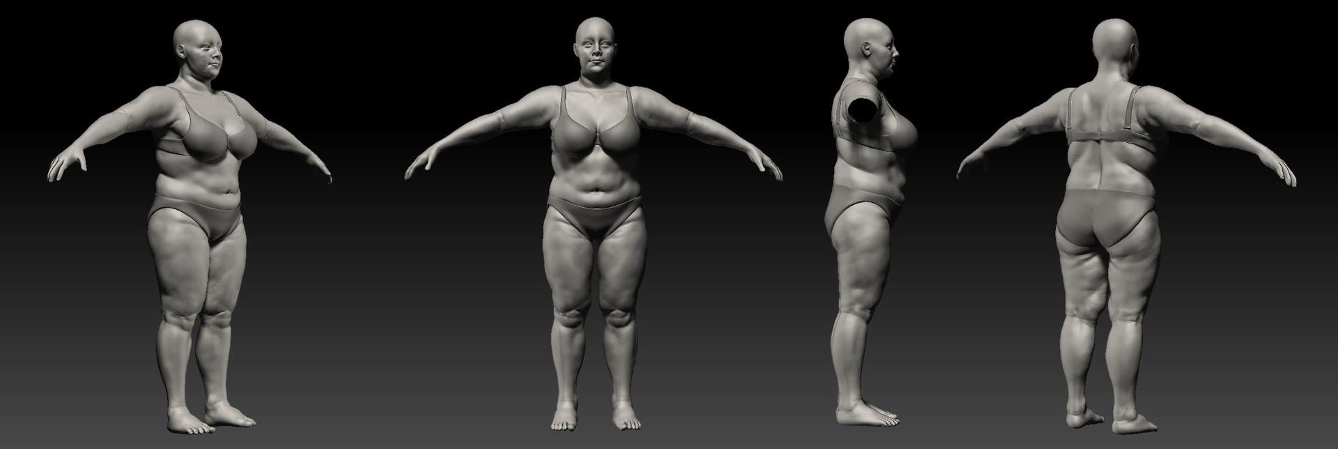 Jin hao villa overweight woman