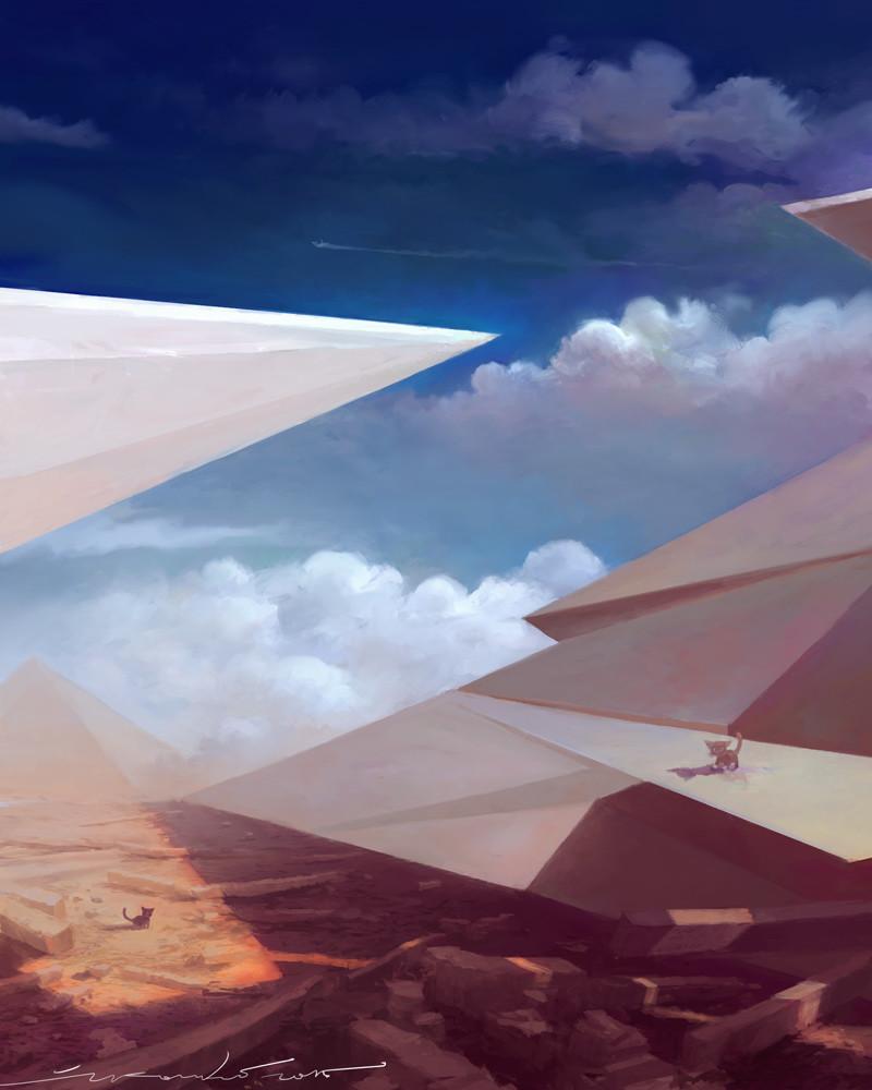 Zivko kondic surreal pyramids crop 800w