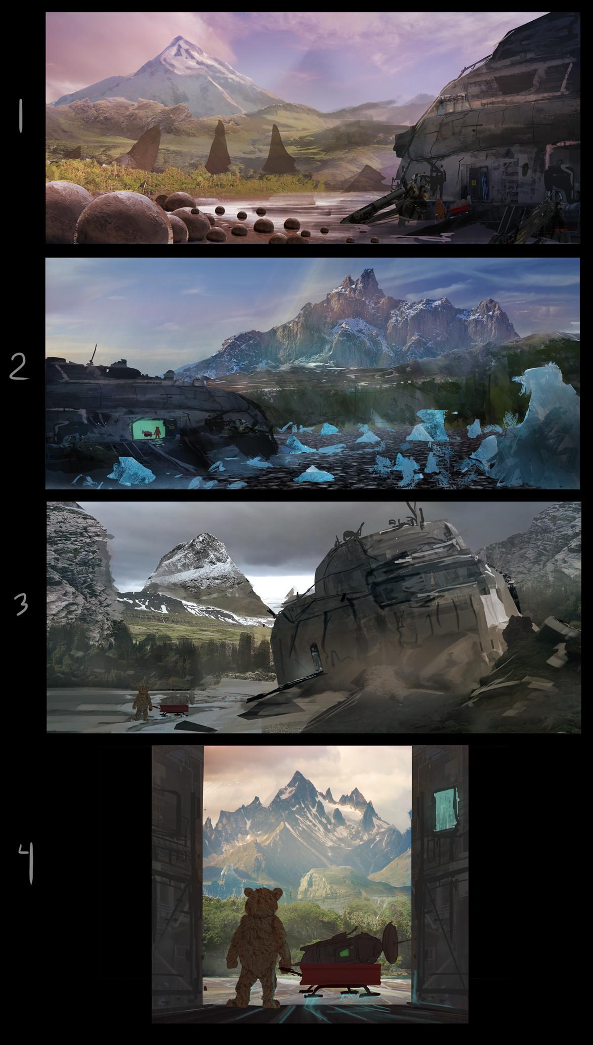 Mark orzechowski bear color sketches 2