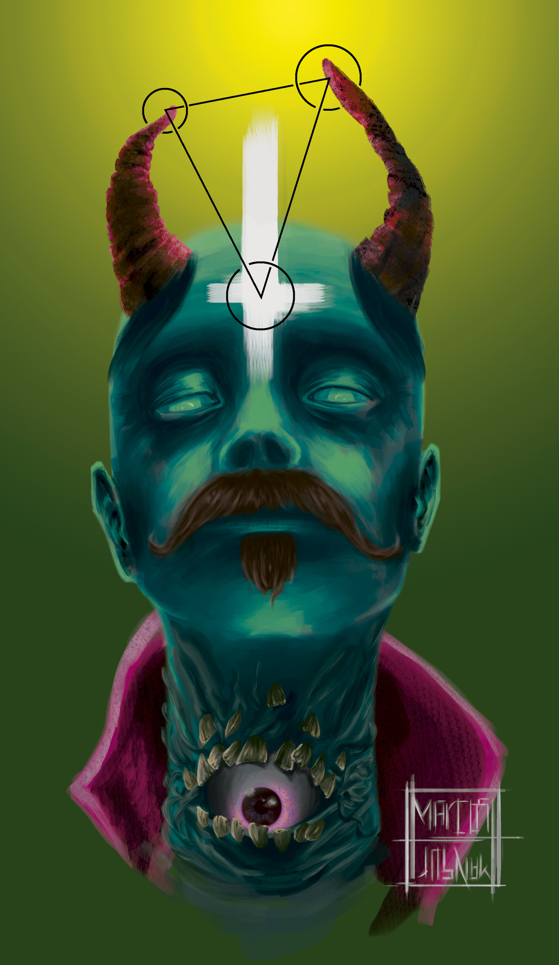 Marcos mansur devil cmyk color another maybe green skin