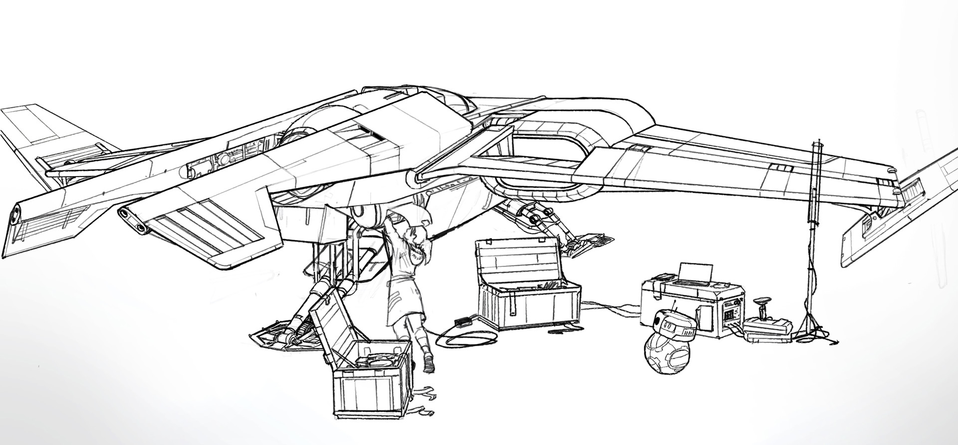 Julien gauthier spacecraft fighter line