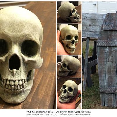Nicholas hall 254mm nhalls artwork graveyard props